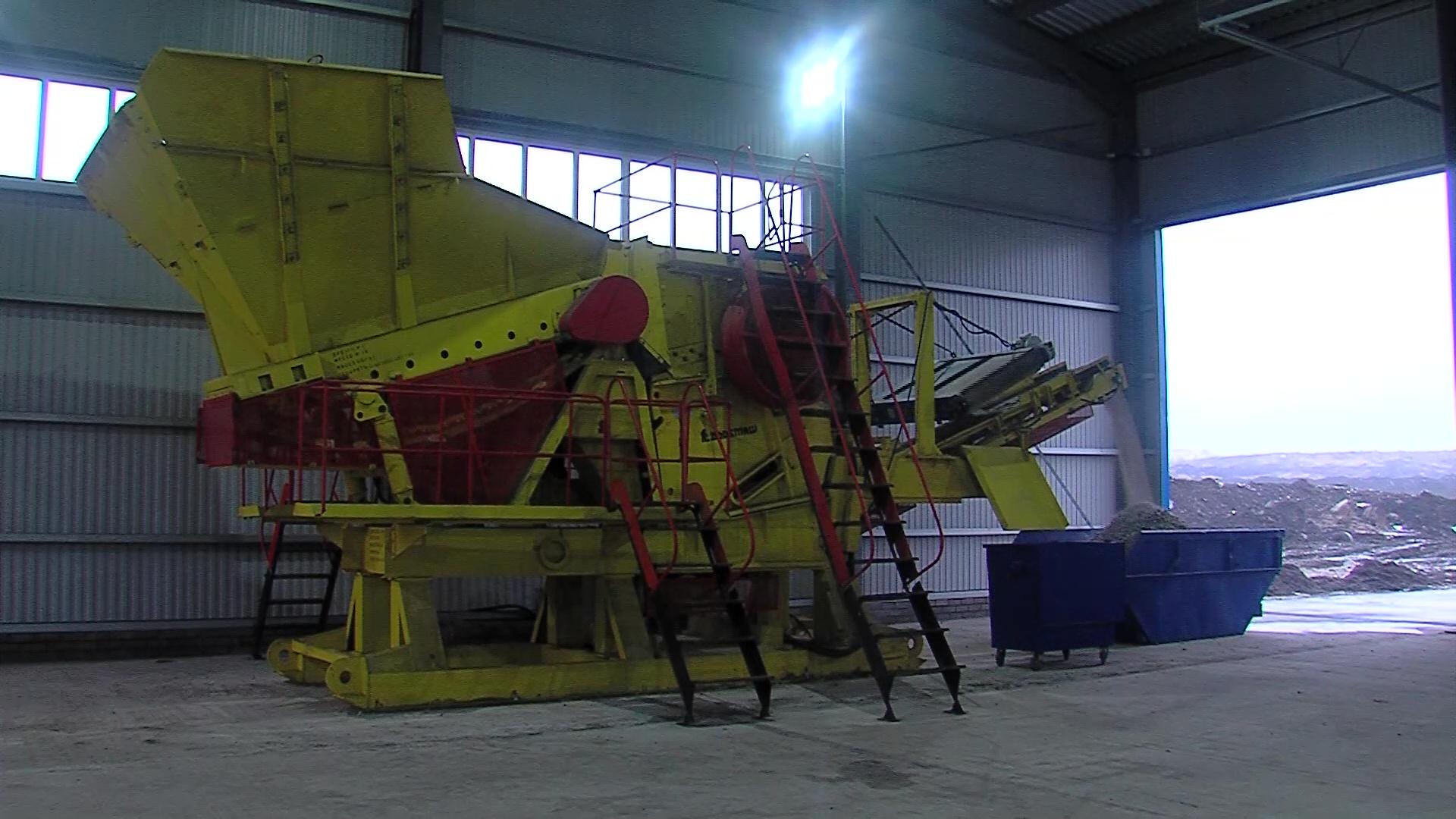 На полигоне «Скоково» на полную мощность запустили комплекс по дроблению отходов