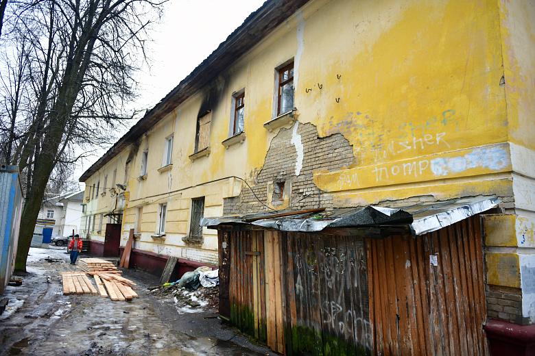 В пострадавшем от пожара доме на Зелинского начался ремонт