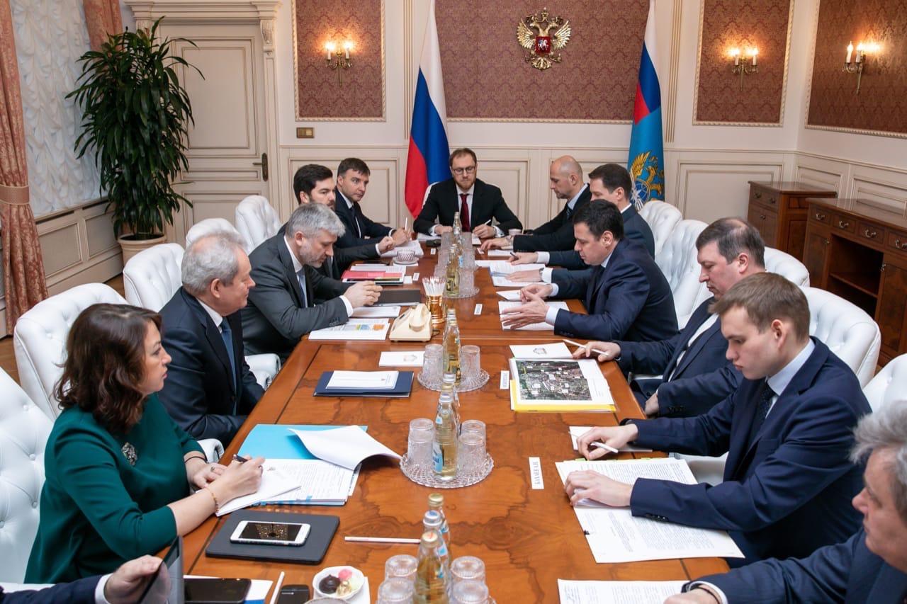 Дмитрий Миронов в Минтрансе обсудил организацию в «Туношне» пункта пропуска через государственную границу