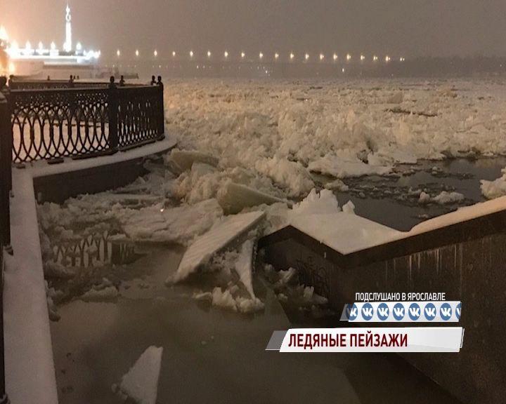 ВИДЕО: Очевидец заснял уникальное зимнее явление на Волге в Ярославле
