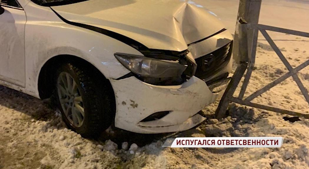 Ярославец разбил авто из-за подрезавшего его водителя