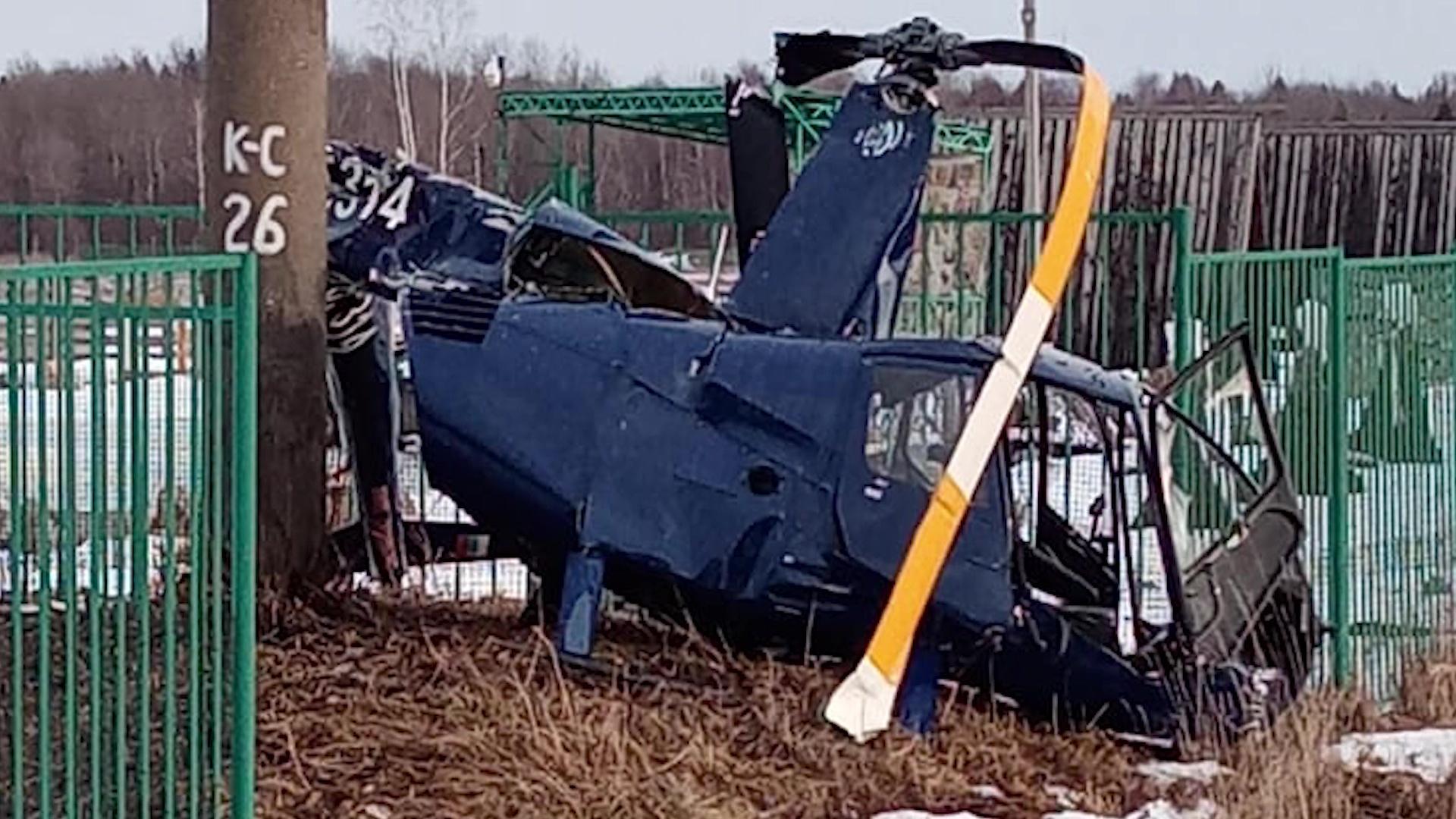 В Переславском районе произошло крушение вертолета