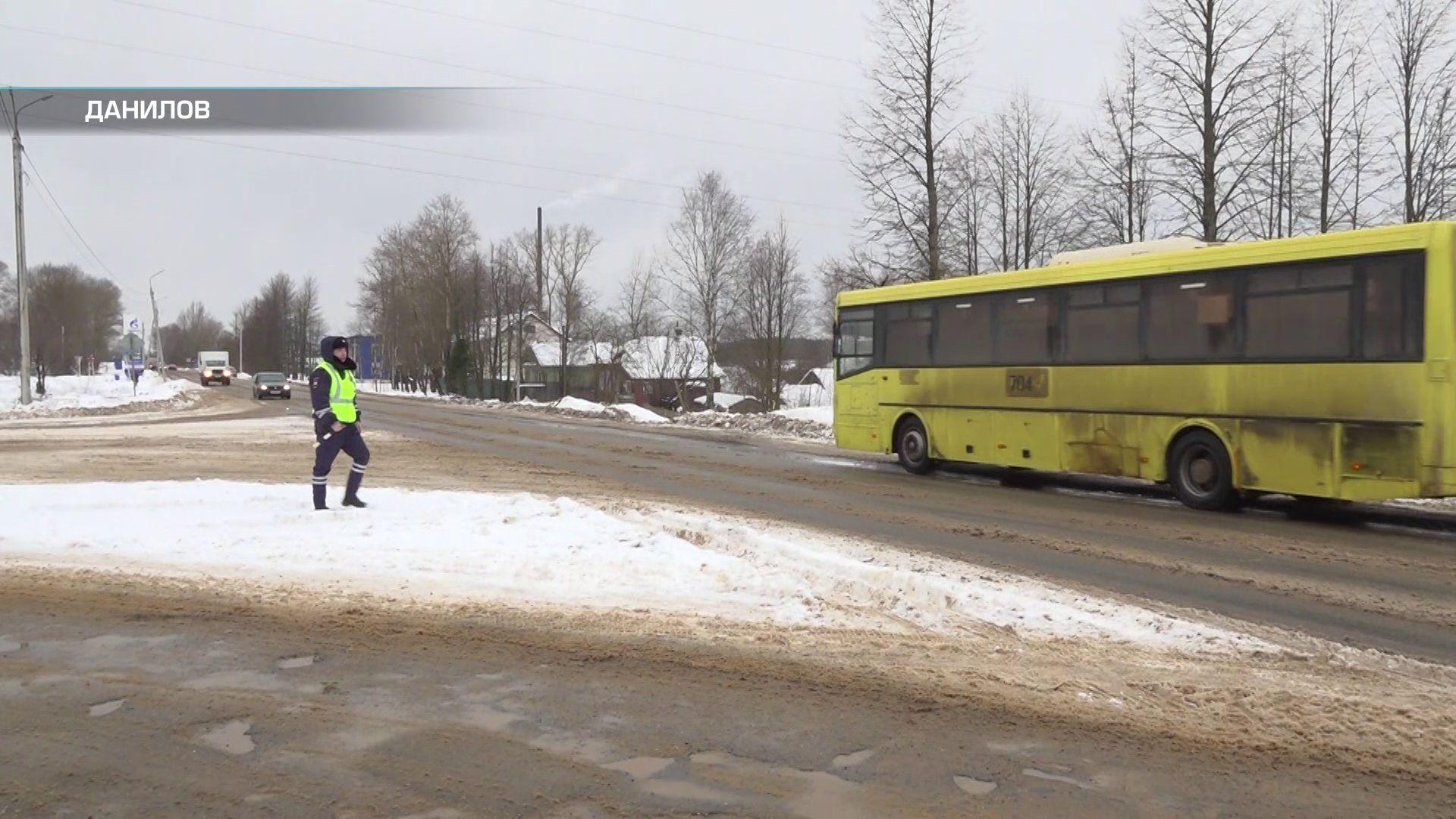 Сотрудники ГИБДД провели очередной рейд по автобусам в Данилове