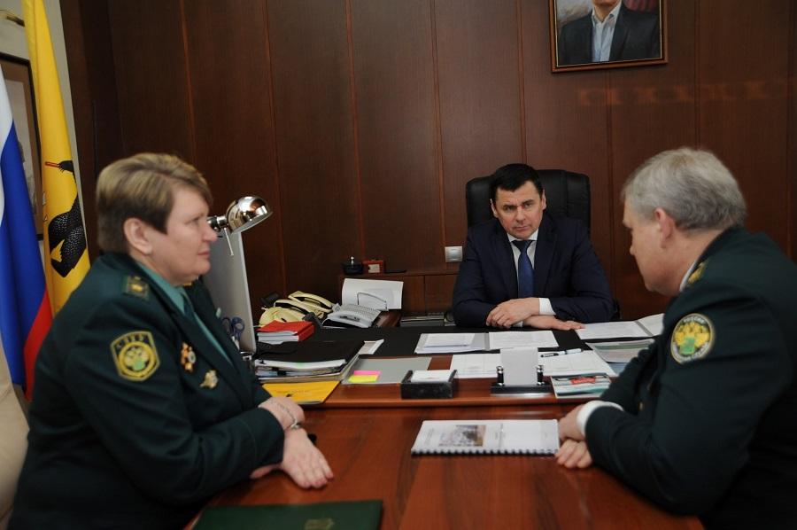 Дмитрий Миронов провел встречу с начальником Ярославской таможни