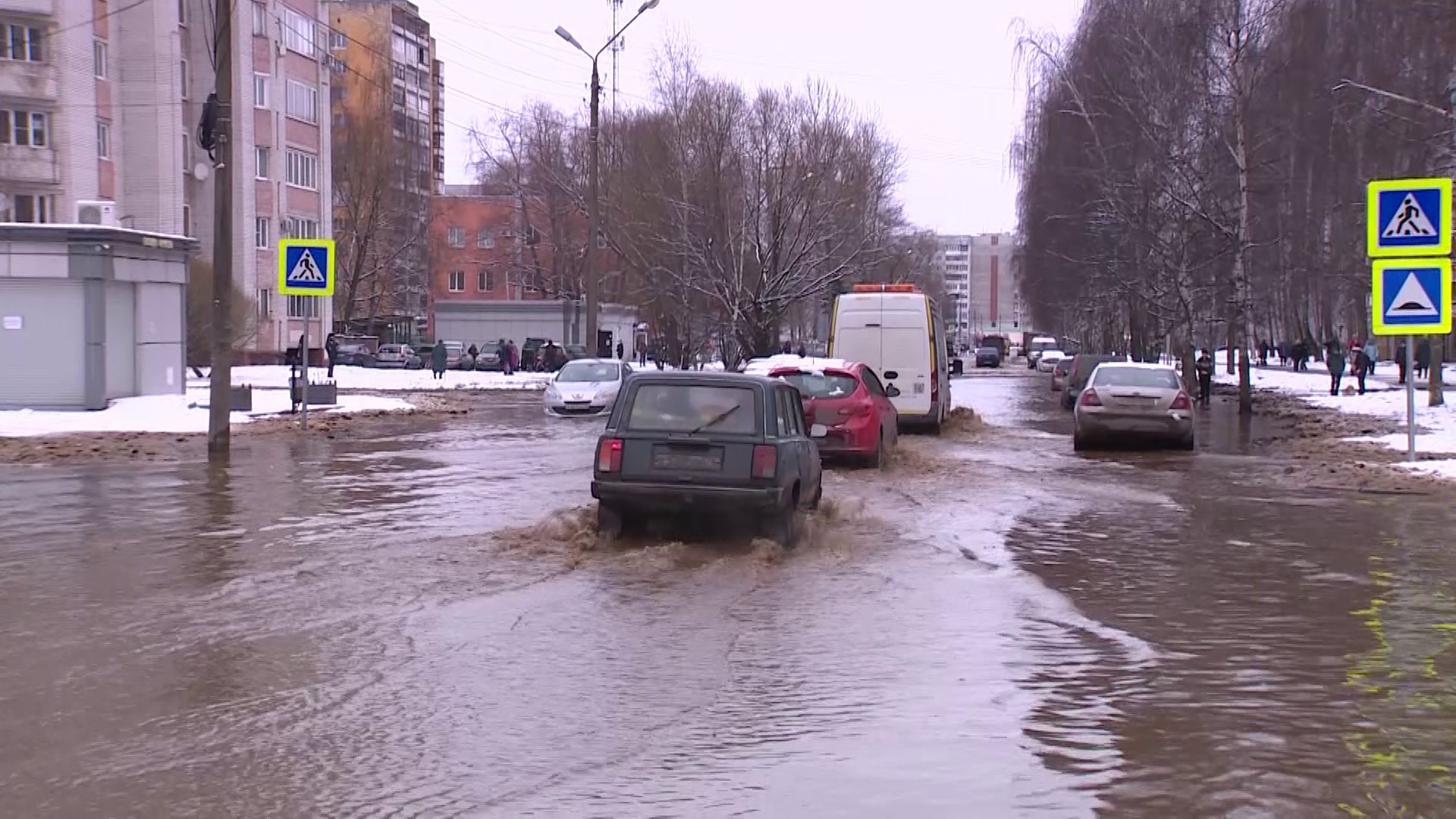 В мэрии Ярославля объяснили, из-за чего произошел потоп на Орджоникидзе