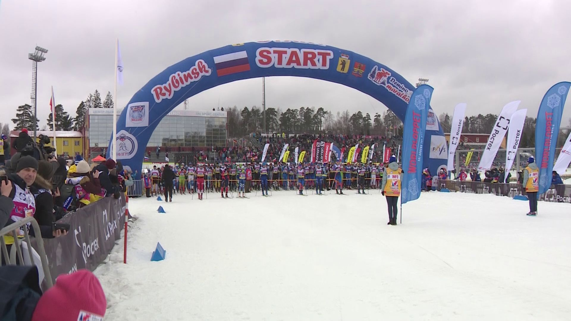 Большее двух тысяч участников: как в Рыбинске проходил один из крупнейших лыжных марафонов