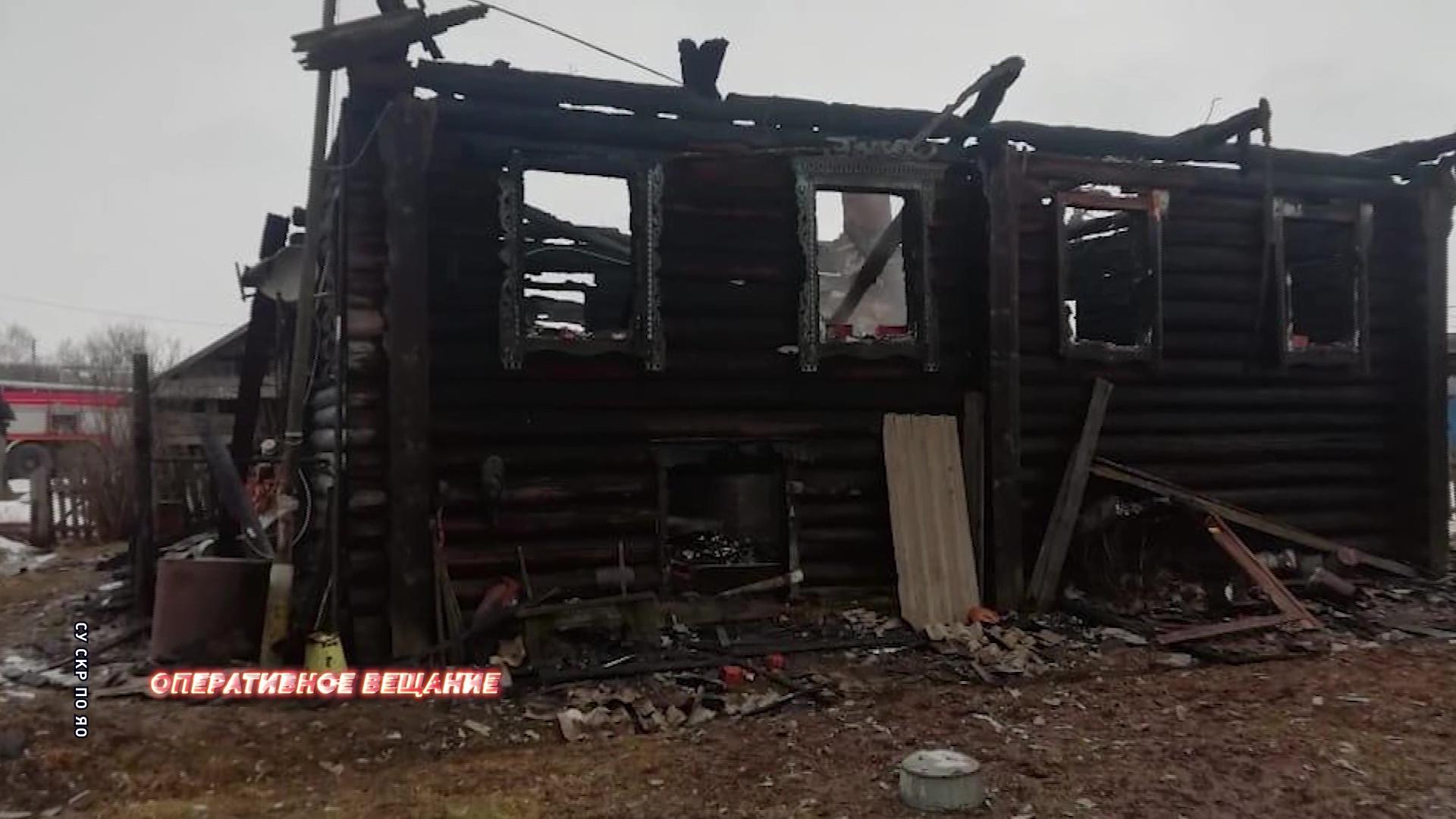 В пожаре в Пошехонском районе погиб 91-летний мужчина