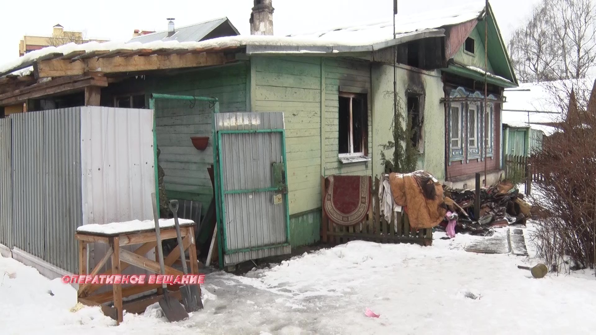 Под Ярославлем сильный пожар унес жизнь человека