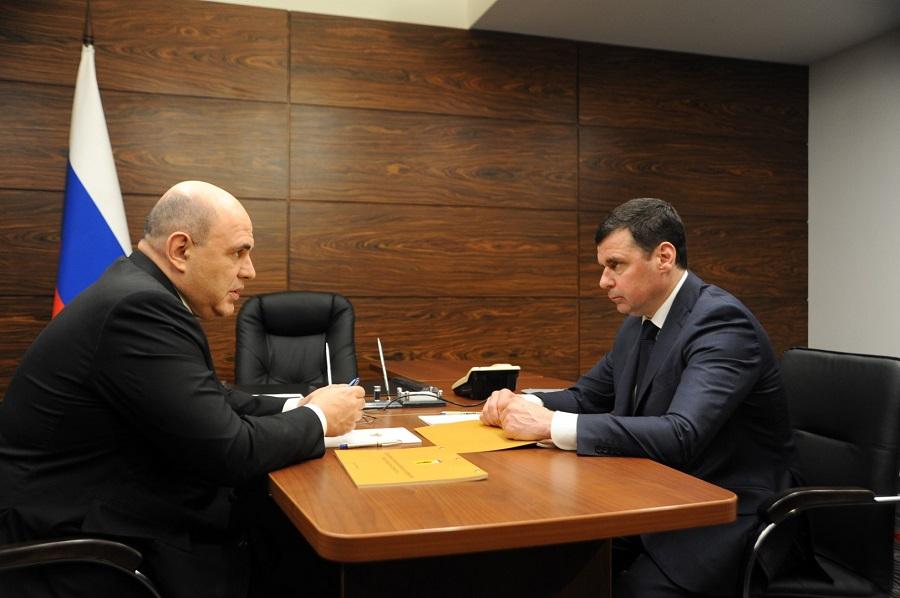 Дмитрий Миронов провел рабочую встречу с премьер-министром РФ Михаилом Мишустиным