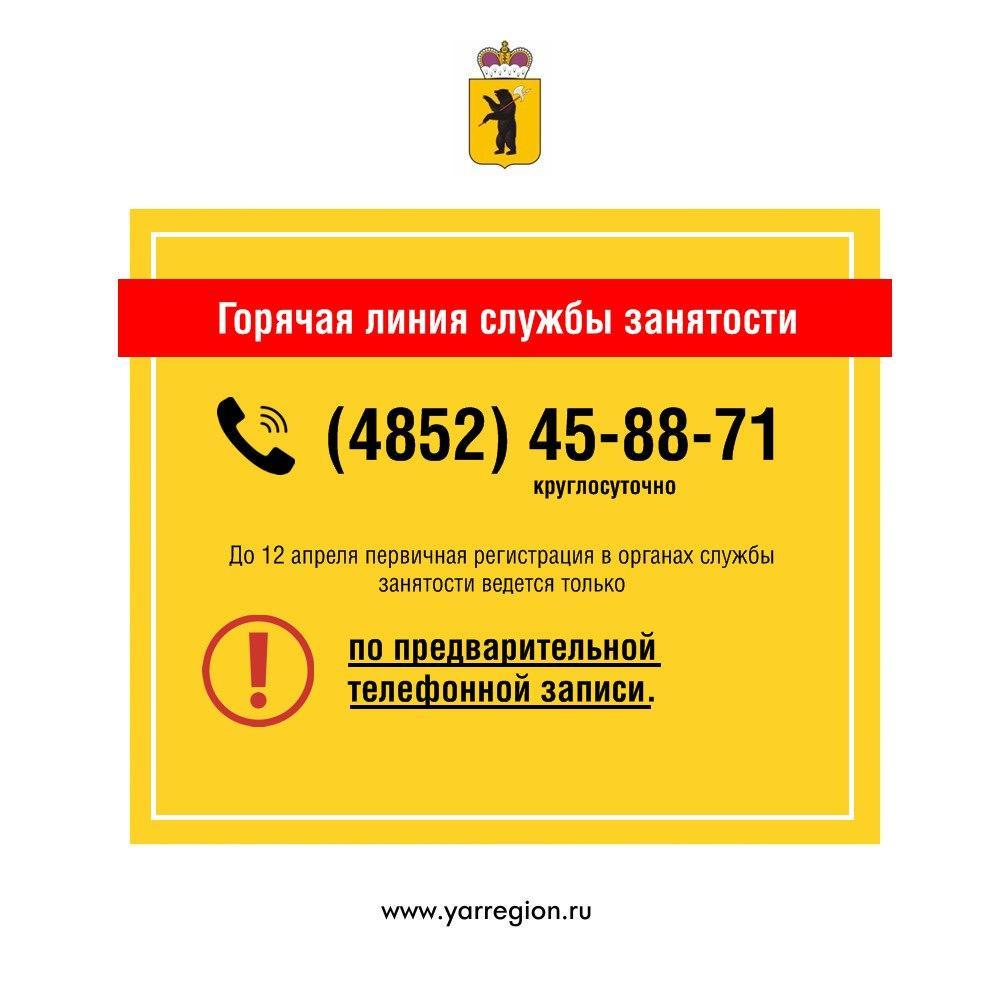 До 12 апреля первичная регистрация в органах службы занятости ведется только по записи