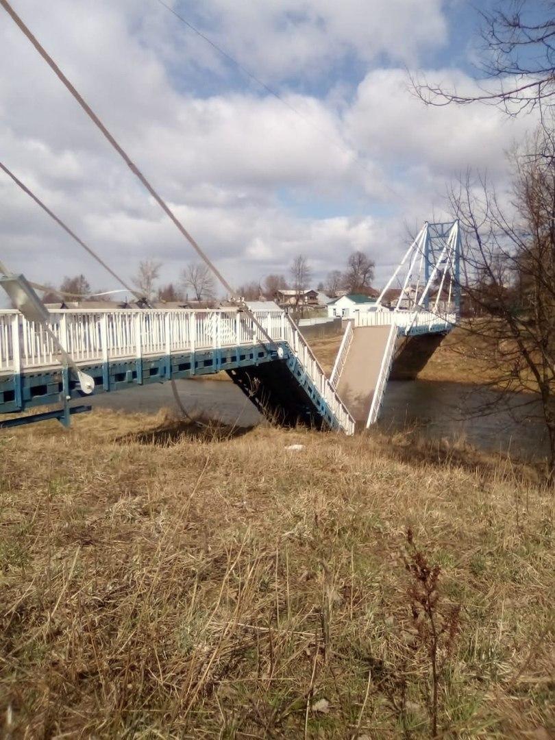 В Борисоглебском обрушился мост через Устье
