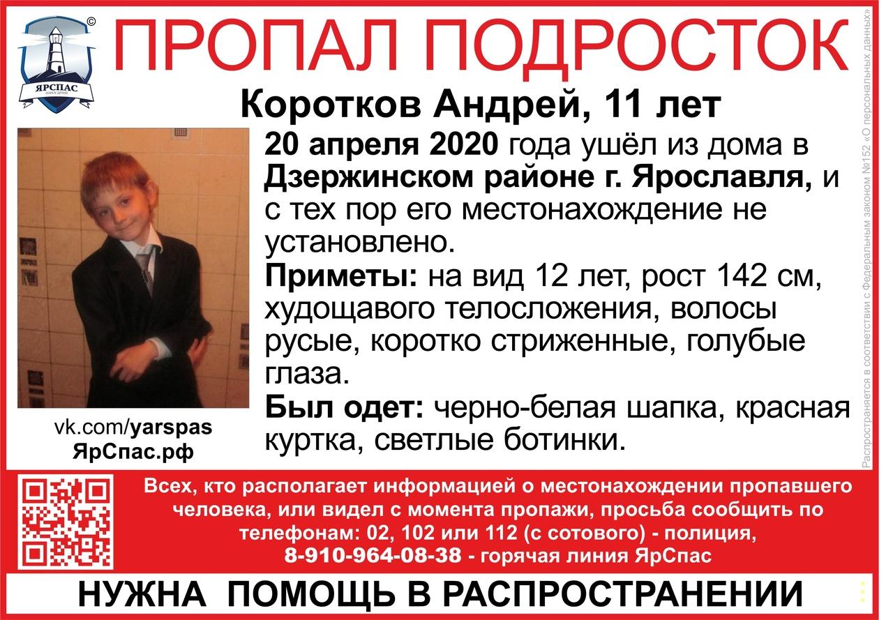 В Ярославле с начала недели ищут 11-летнего мальчика