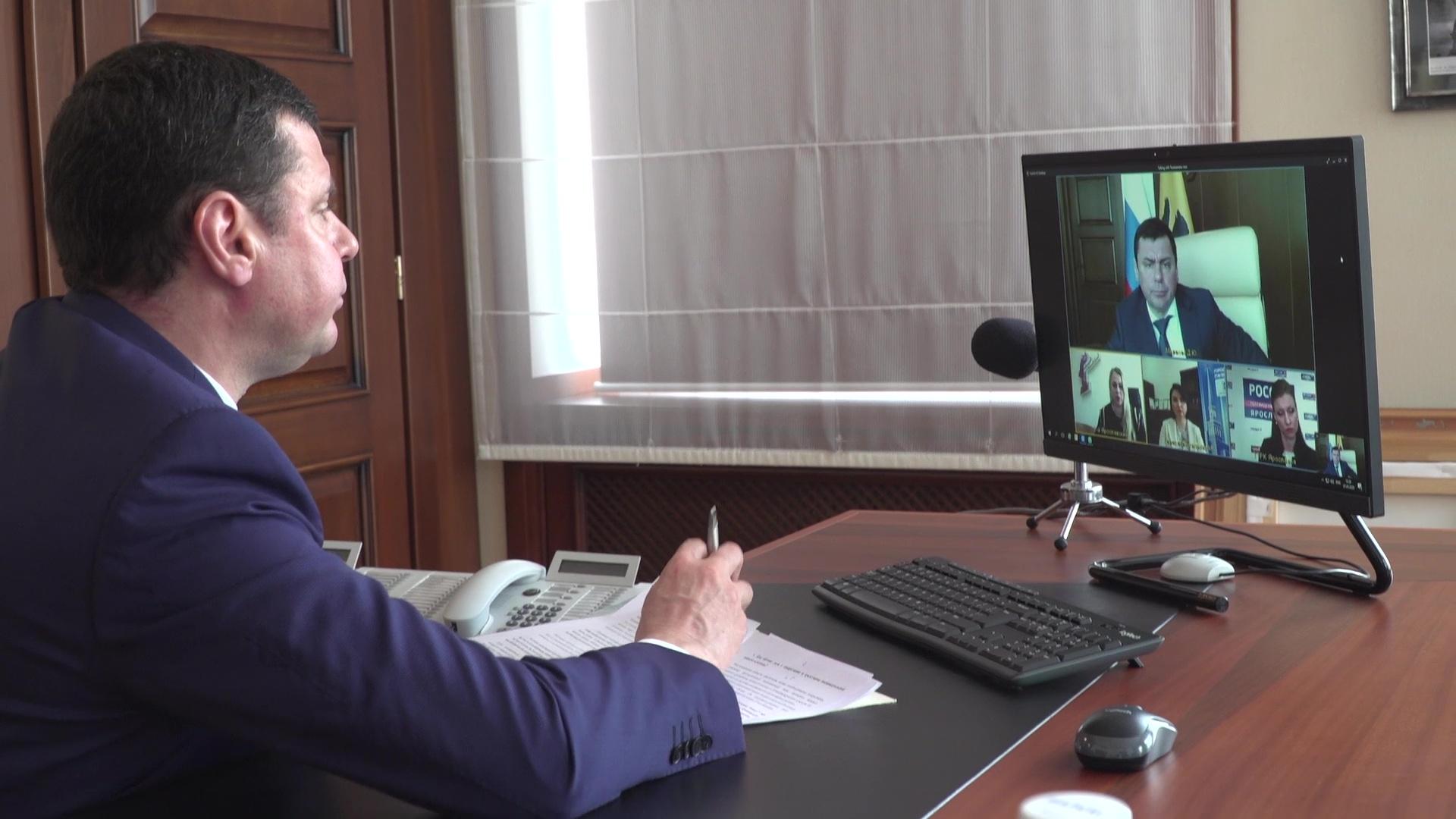 Дмитрий Миронов встретился с главными редакторами телеканалов Ярославской области в режиме онлайн