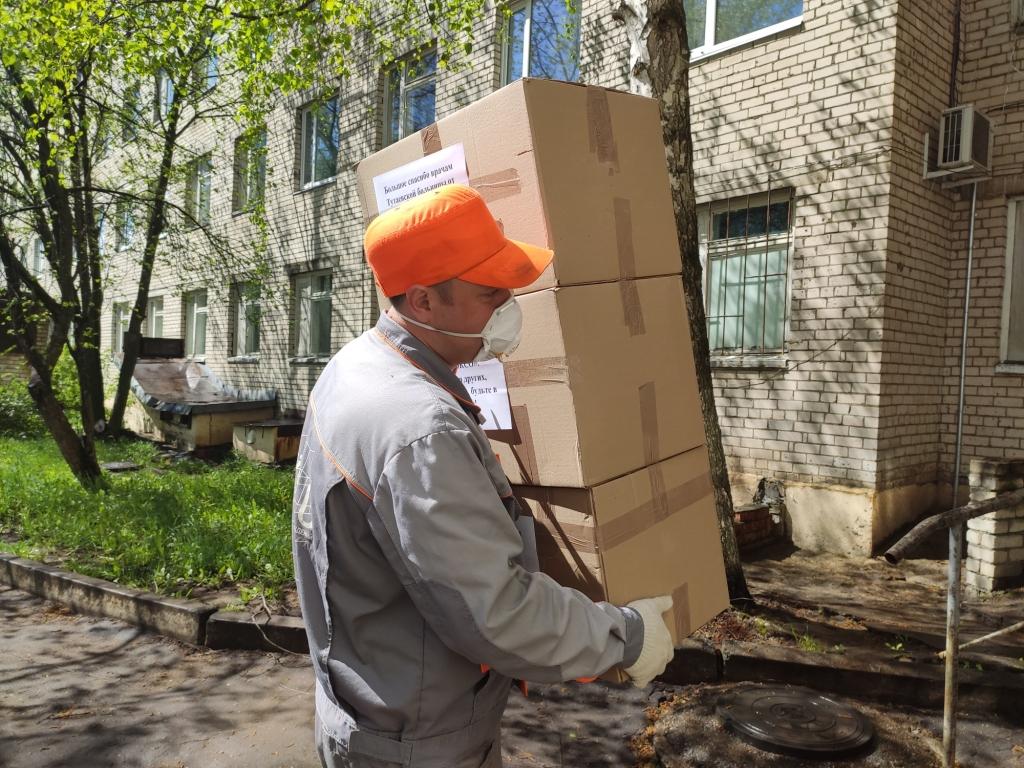 Тутаевская ЦРБ получила средства индивидуальной защиты от предпринимателей