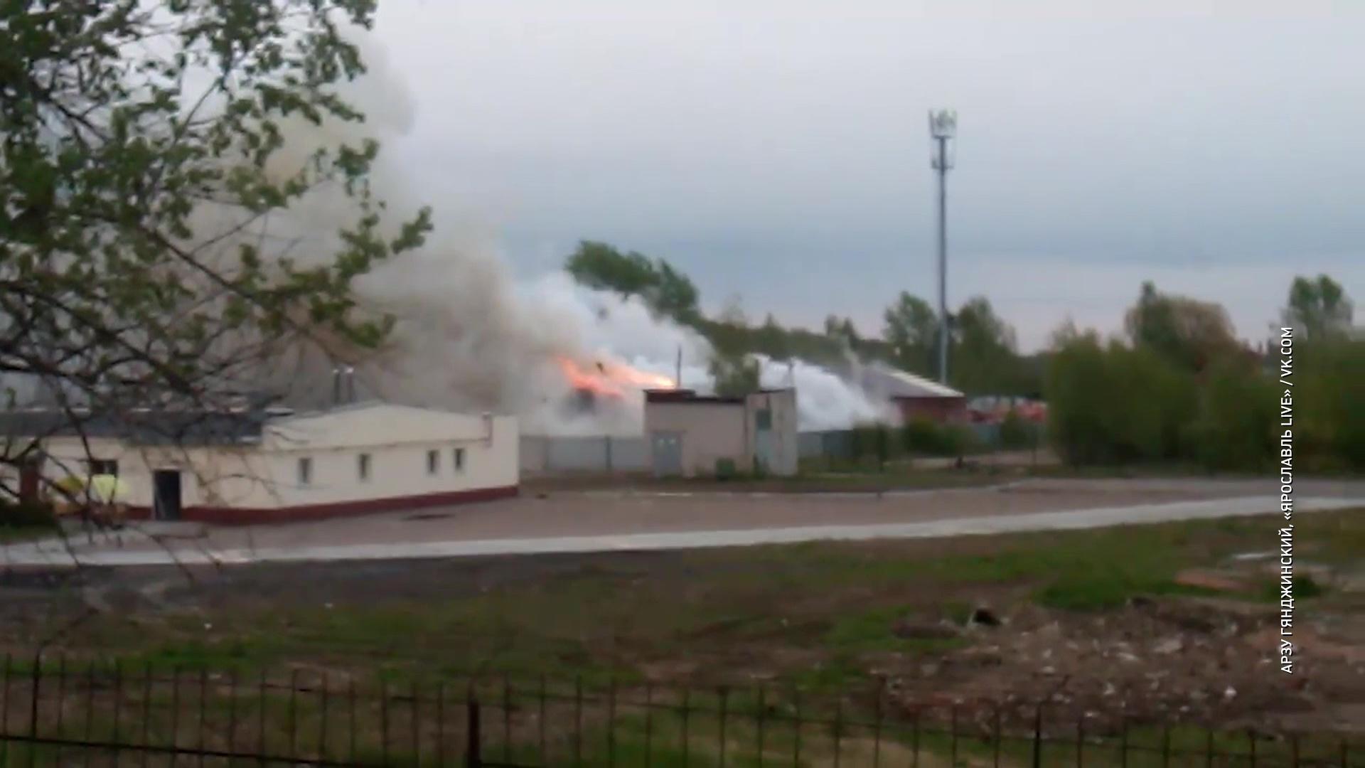 В Ярославле сгорел крупный склад