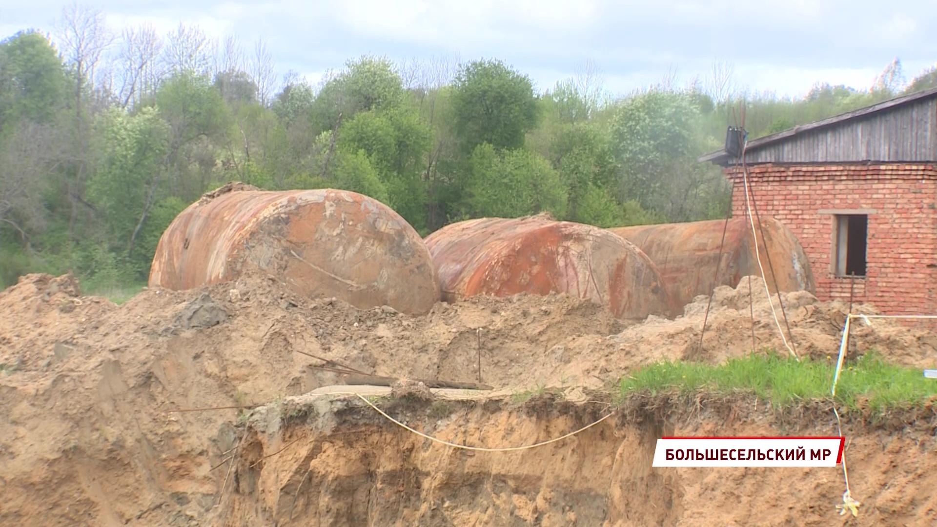 В Большом Селе продолжается строительство новых очистных сооружений