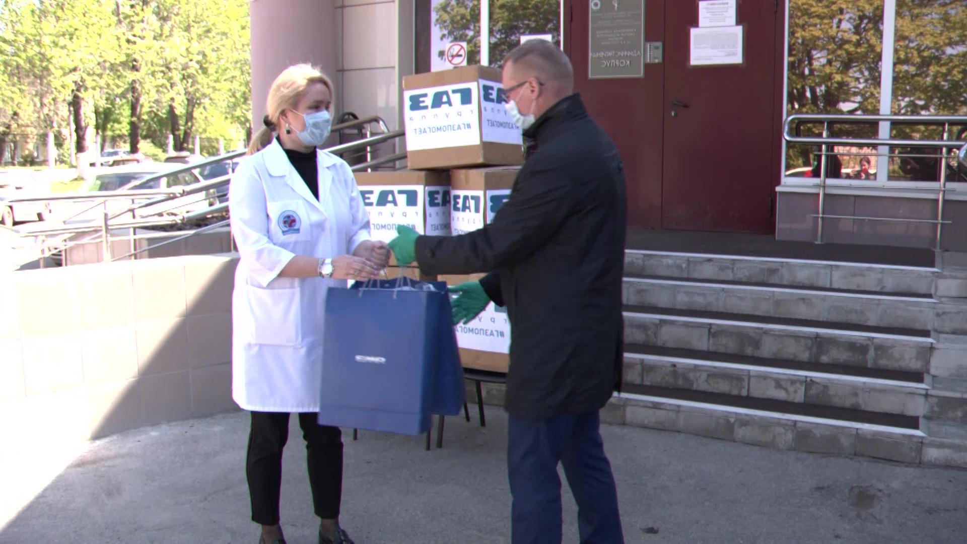 Моторный завод передал 15 тысяч медицинских масок в больницы области