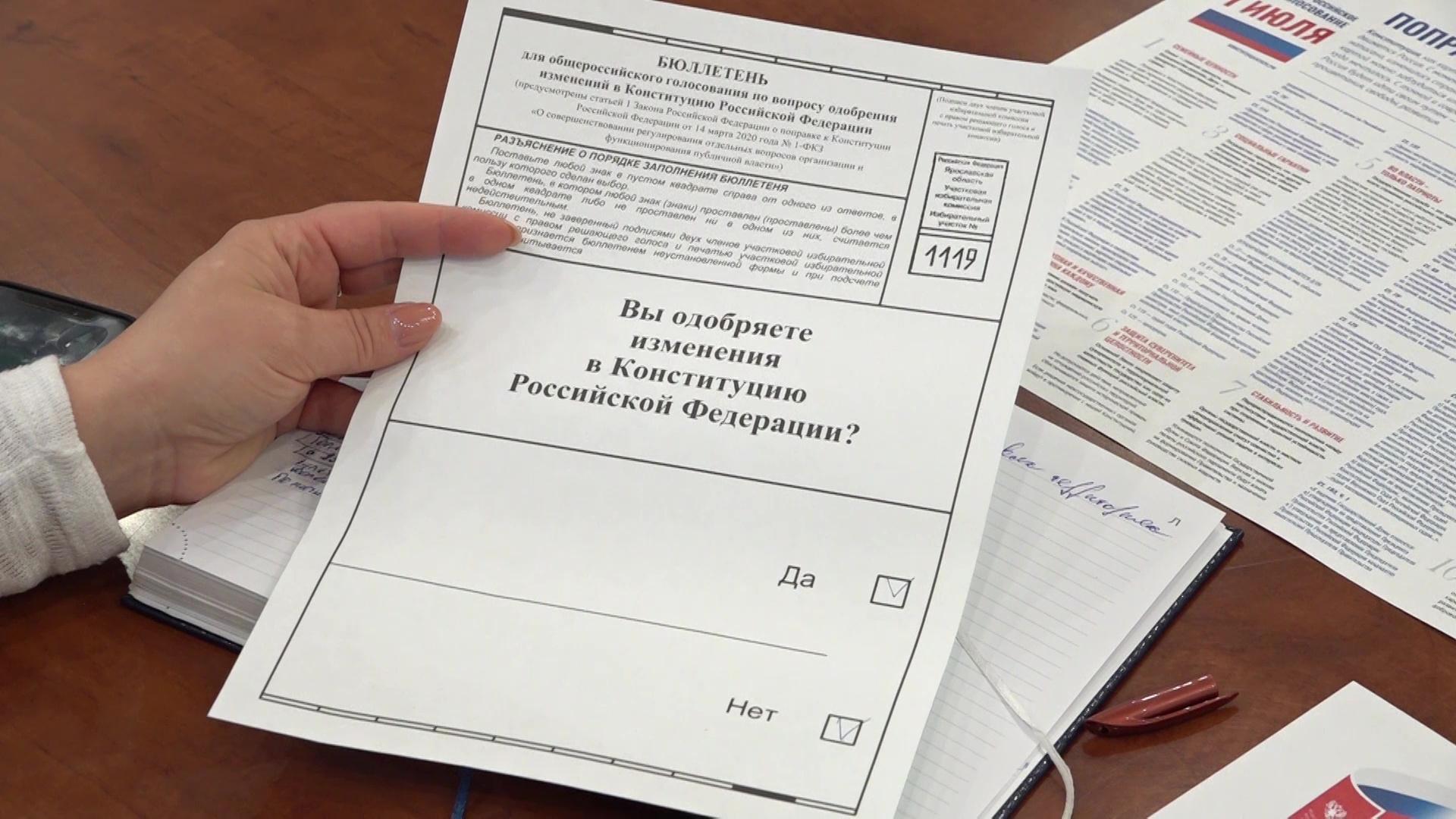 Стало известно, как пройдет голосование по поправкам в Конституцию в Ярославской области