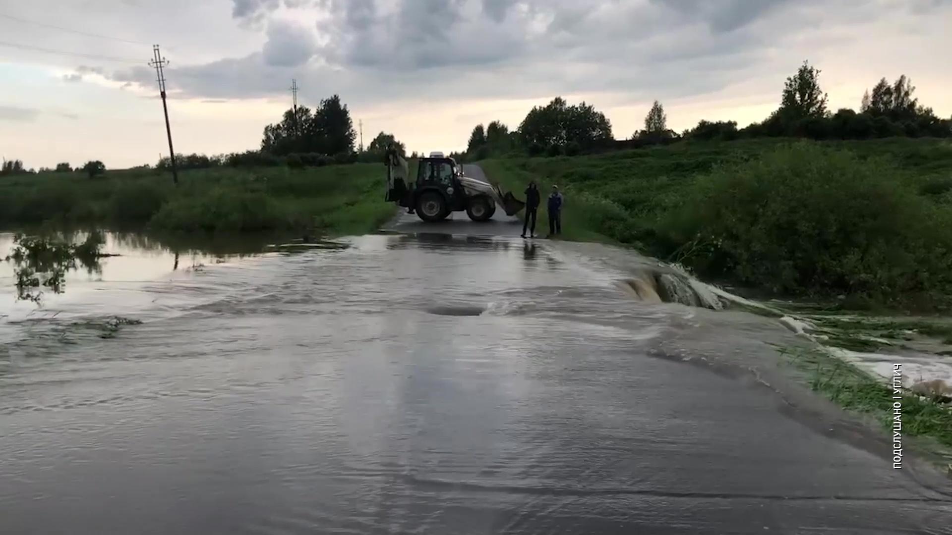 В Угличском районе разлив реки устроил настоящий каскад водопадов