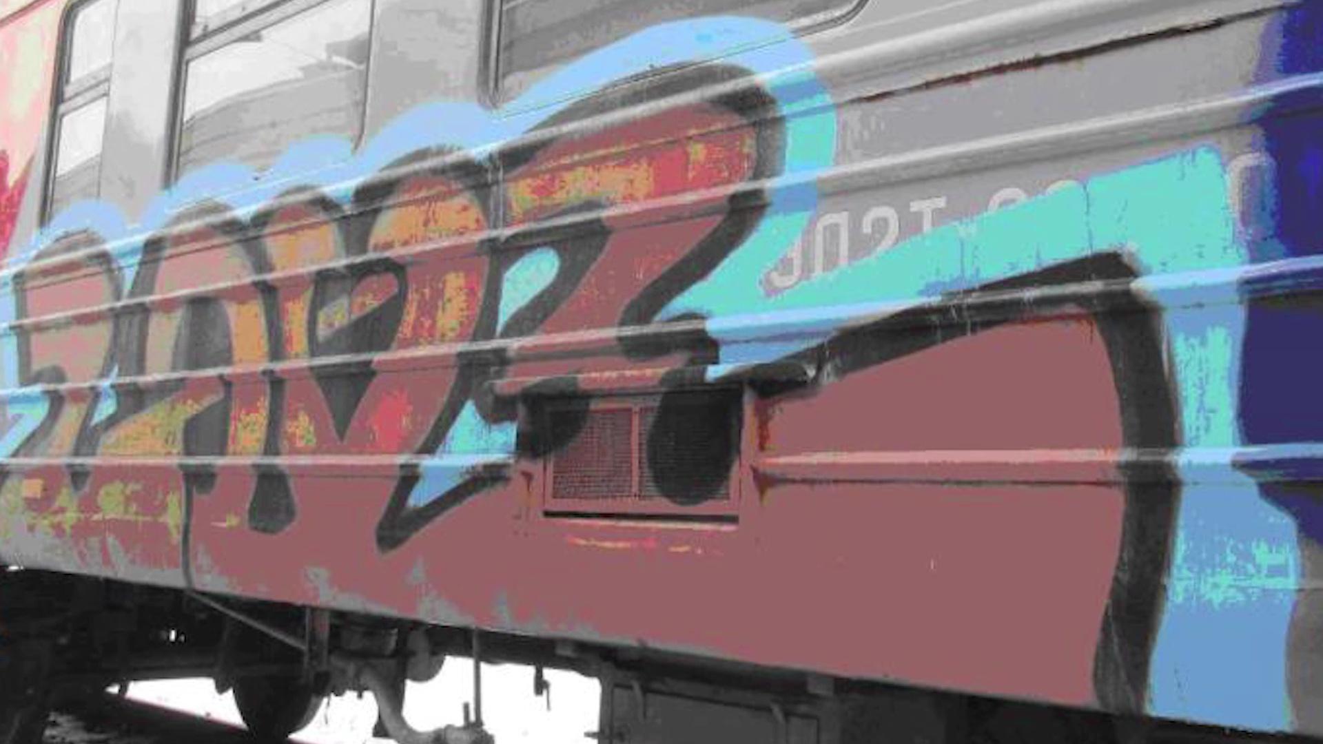 Полиция поймала пару вандалов, разрисовывавших вагоны поездов