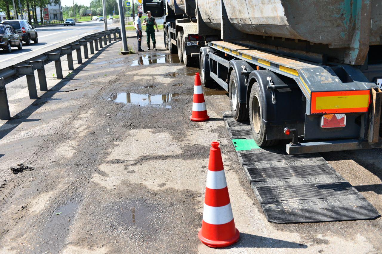 В Ярославле установили мобильные пункты весового контроля для большегрузов