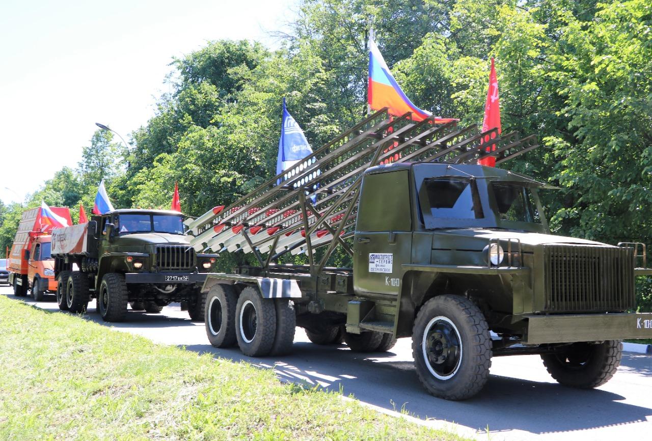 По Ростовскому району проехала военная техника