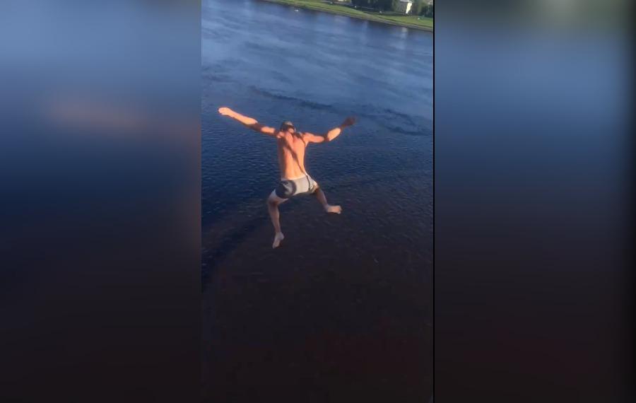 Пьяный рыбинец прыгнул с моста в Волгу, чтобы освежиться