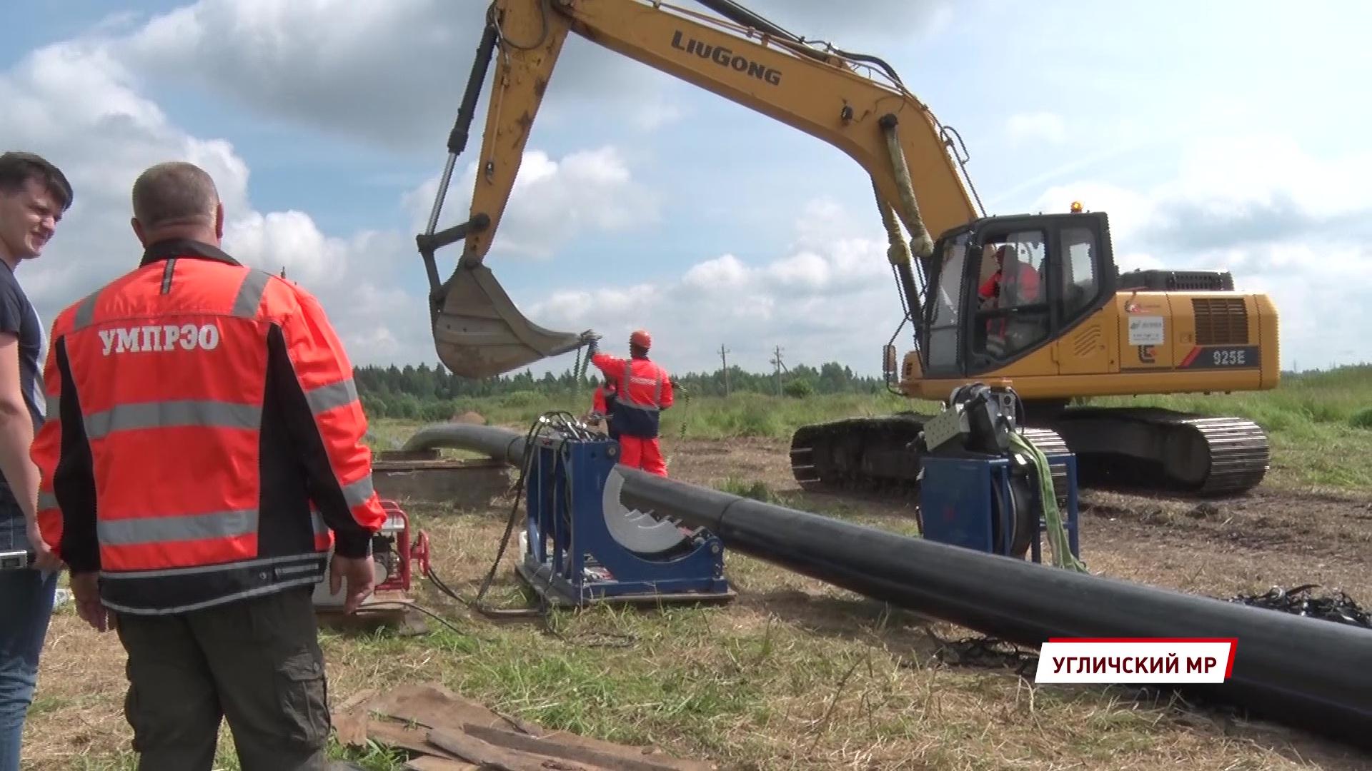 В Угличском районе идет модернизация канализации