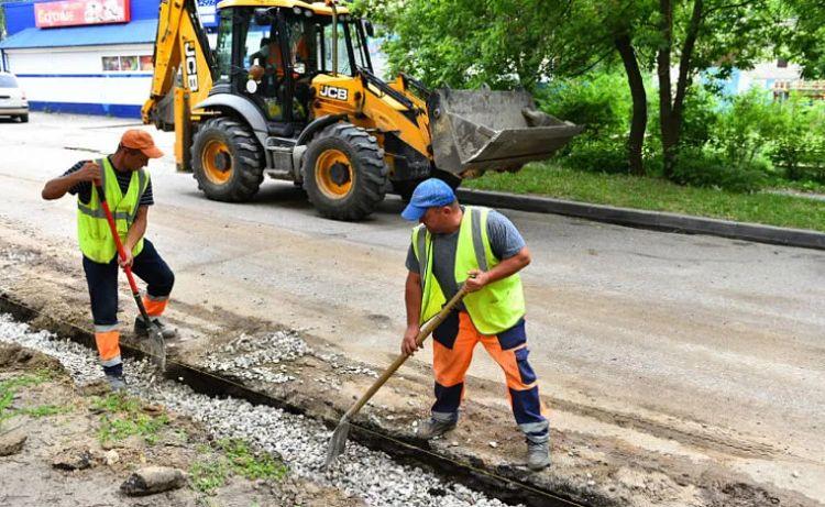 В Ярославле на улице Рыкачева ведутся ремонтные работы