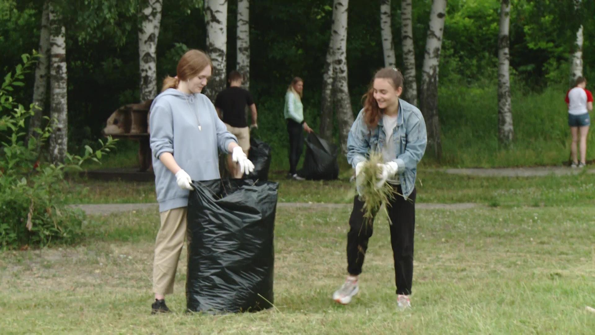 Неравнодушные горожане облагородили парк Подзеленье в Ярославле