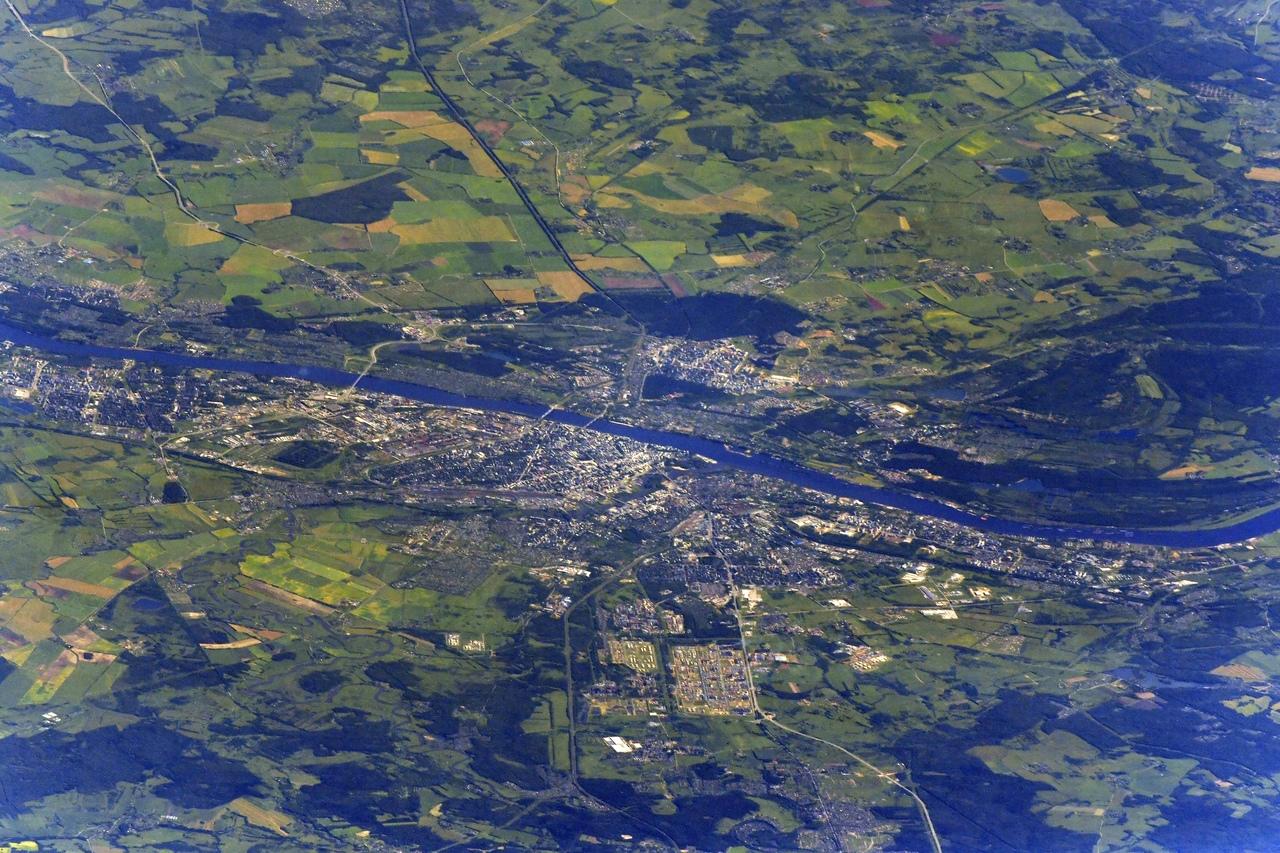 Космонавт поделился фотографией Ярославля с МКС