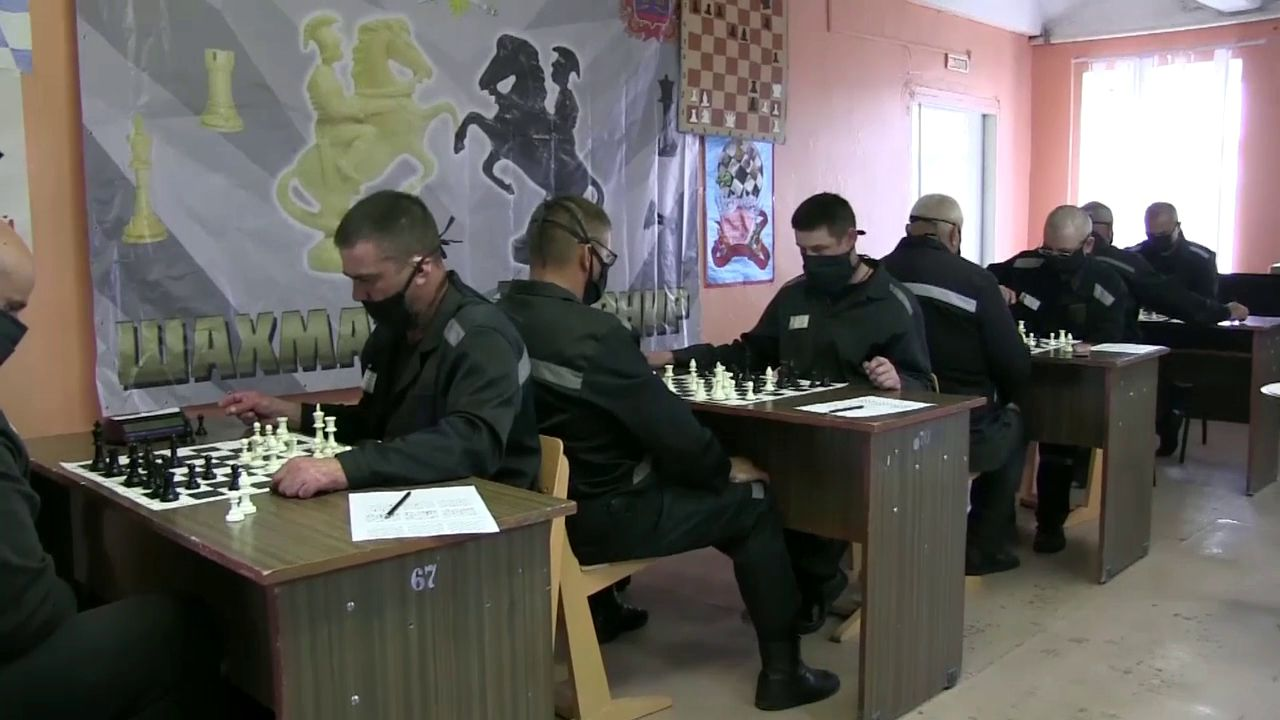 По области прошли шахматные турниры в исправительных колониях