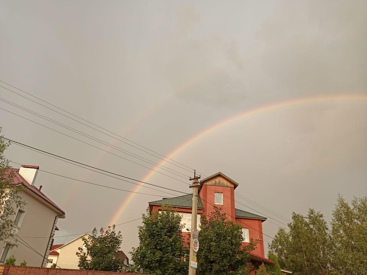 ФОТО: Над Ярославлем появилась двойная радуга