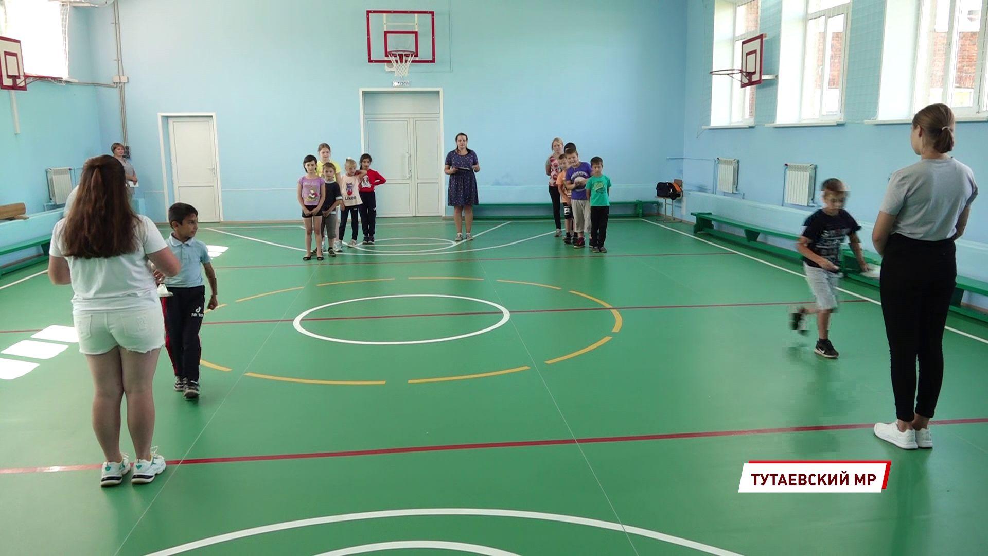 В Чебаковской школе сделали новый спортивный зал