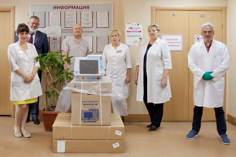 Девятая больница Ярославля получила два аппарата ИВЛ