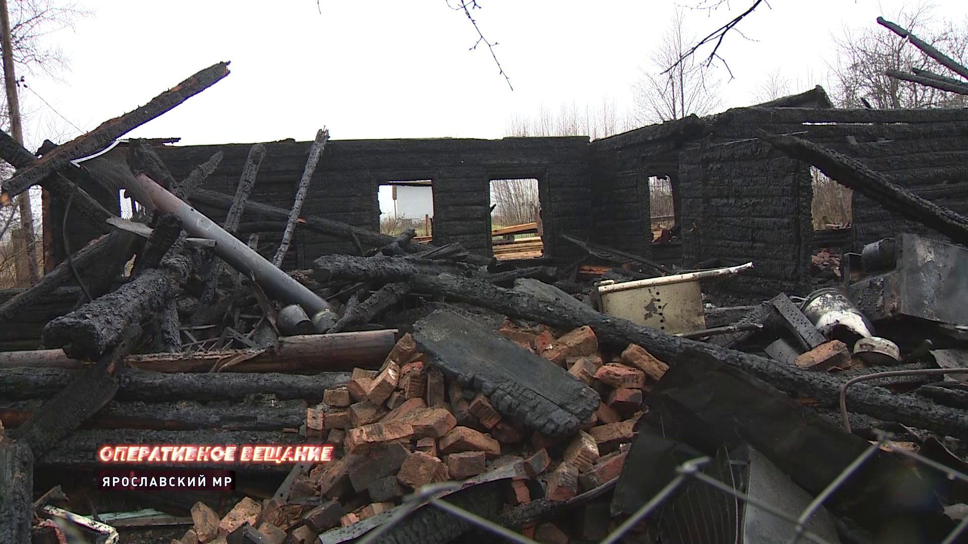 В Браташино сгорел частный жилой дом