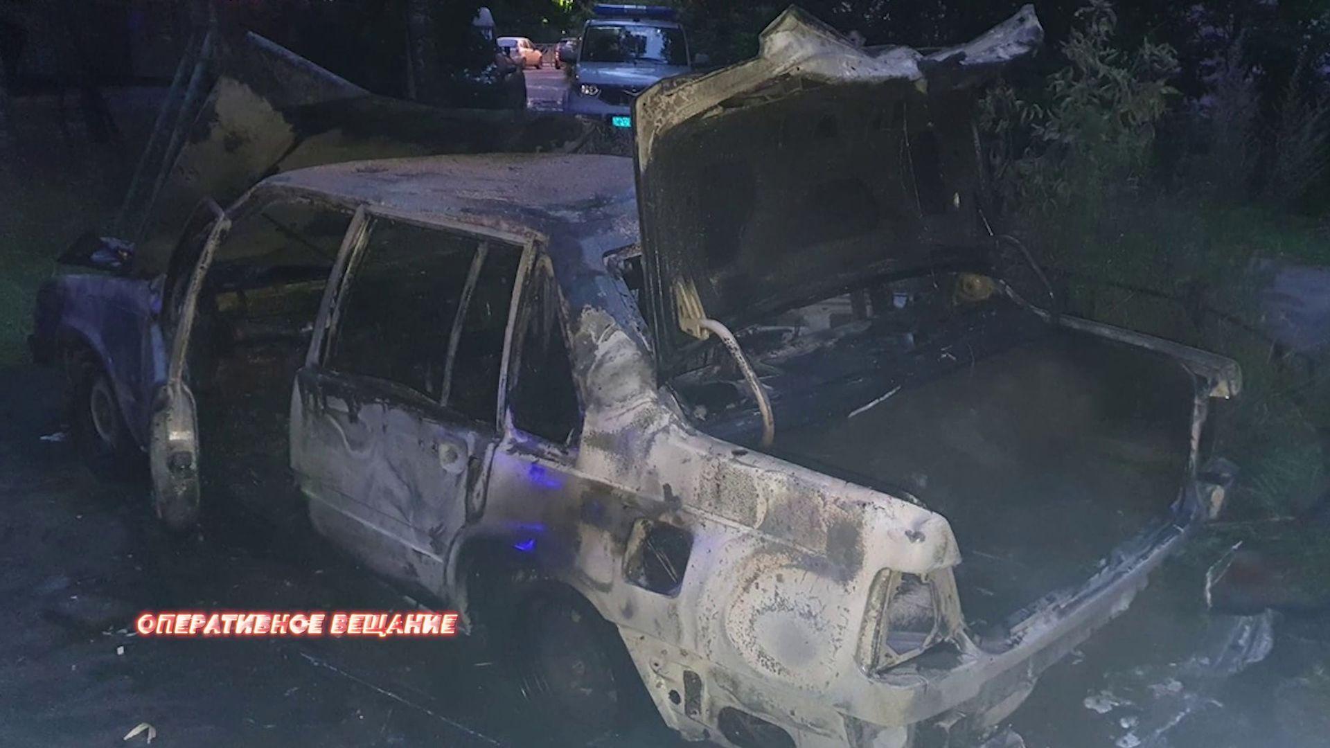 В Ярославле сгорела машина
