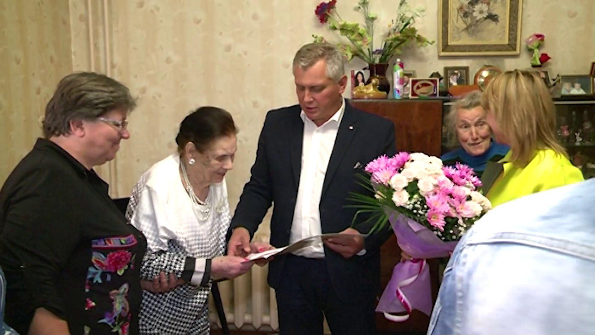 Ветеран Великой Отечественной войны отметила сегодня вековой юбилей