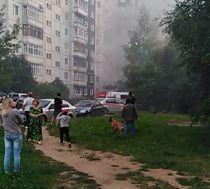 Появились первые кадры с места взрыва газа на Батова
