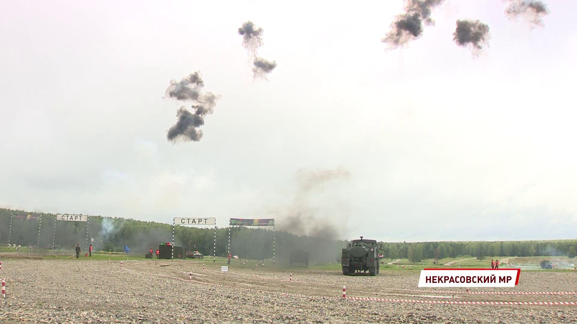 На полигоне в Песочном прошел самый зрелищный этап международного военного конкурса «Безопасная среда»