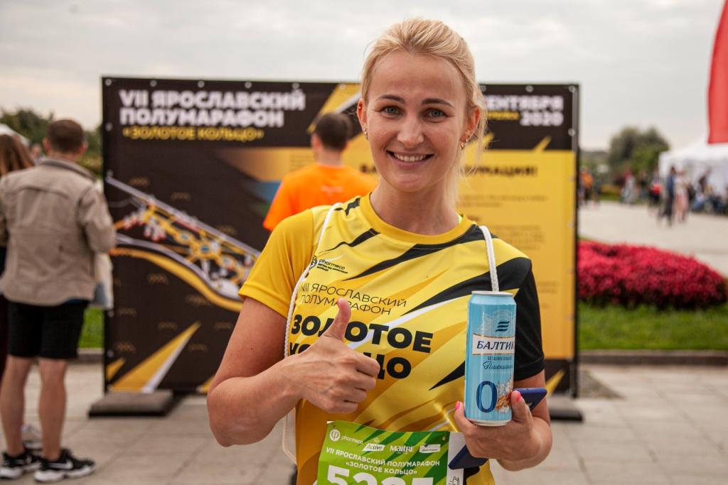 «Балтика 0» освежила участников Ярославского полумарафона «Золотое Кольцо»