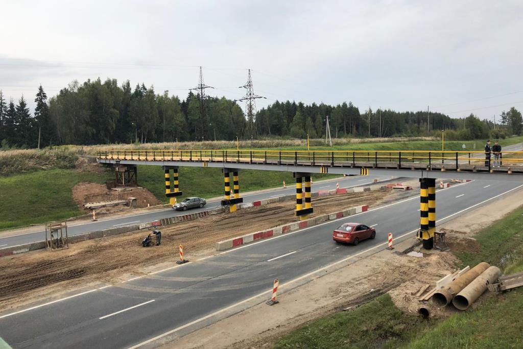 В Ярославской области на капитальный ремонт закрыли путепровод через федеральную трассу М8 «Холмогоры»
