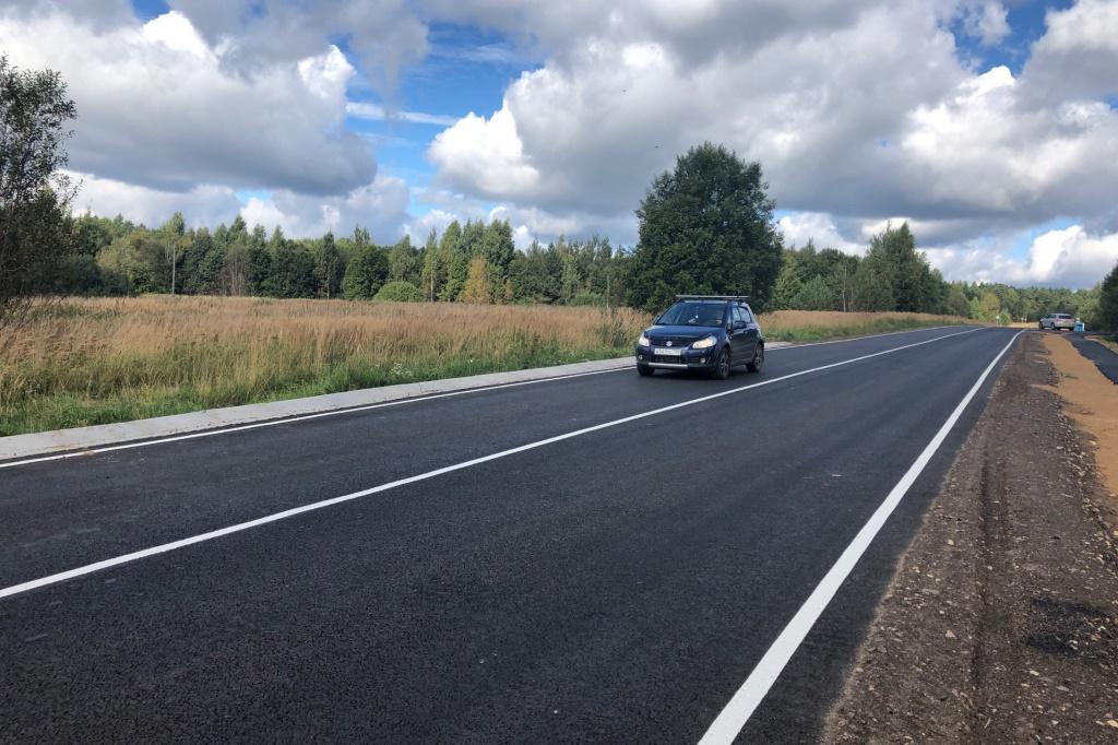 В Ярославской области отремонтировали участок дороги Говырино – Дмитриевское – Нагорье