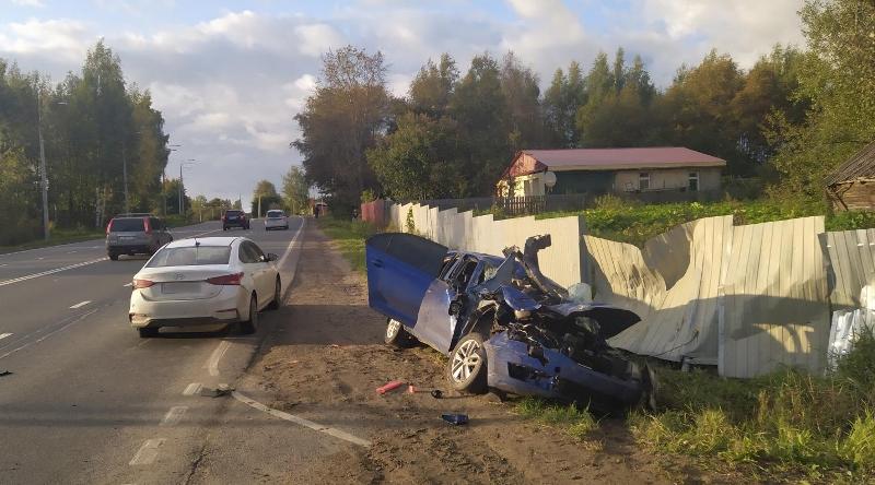 Молодой мужчина пострадал в ДТП на трассе Ярославль – Рыбинск