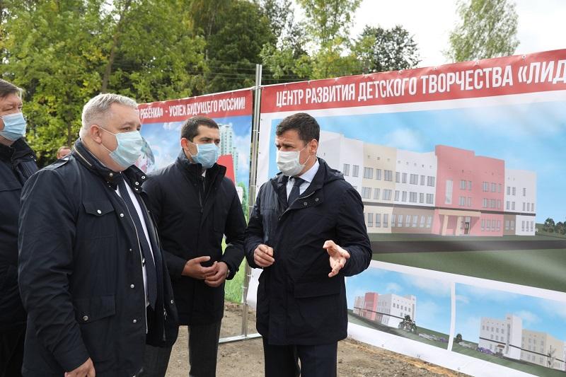 Дмитрий Миронов заложил капсулу на месте строительства центра развития детского творчества в Гаврилов-Яме