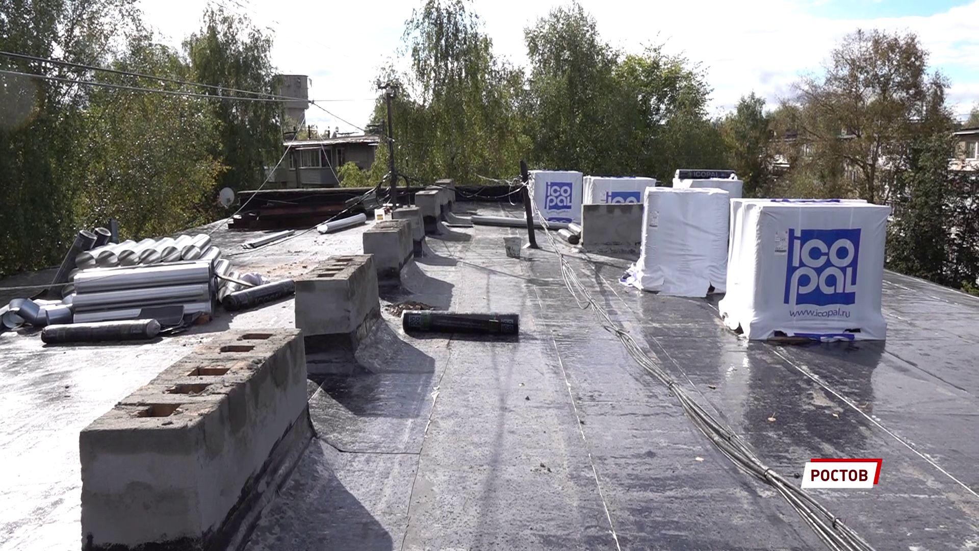 В Ростове продолжается капитальный ремонт крыш