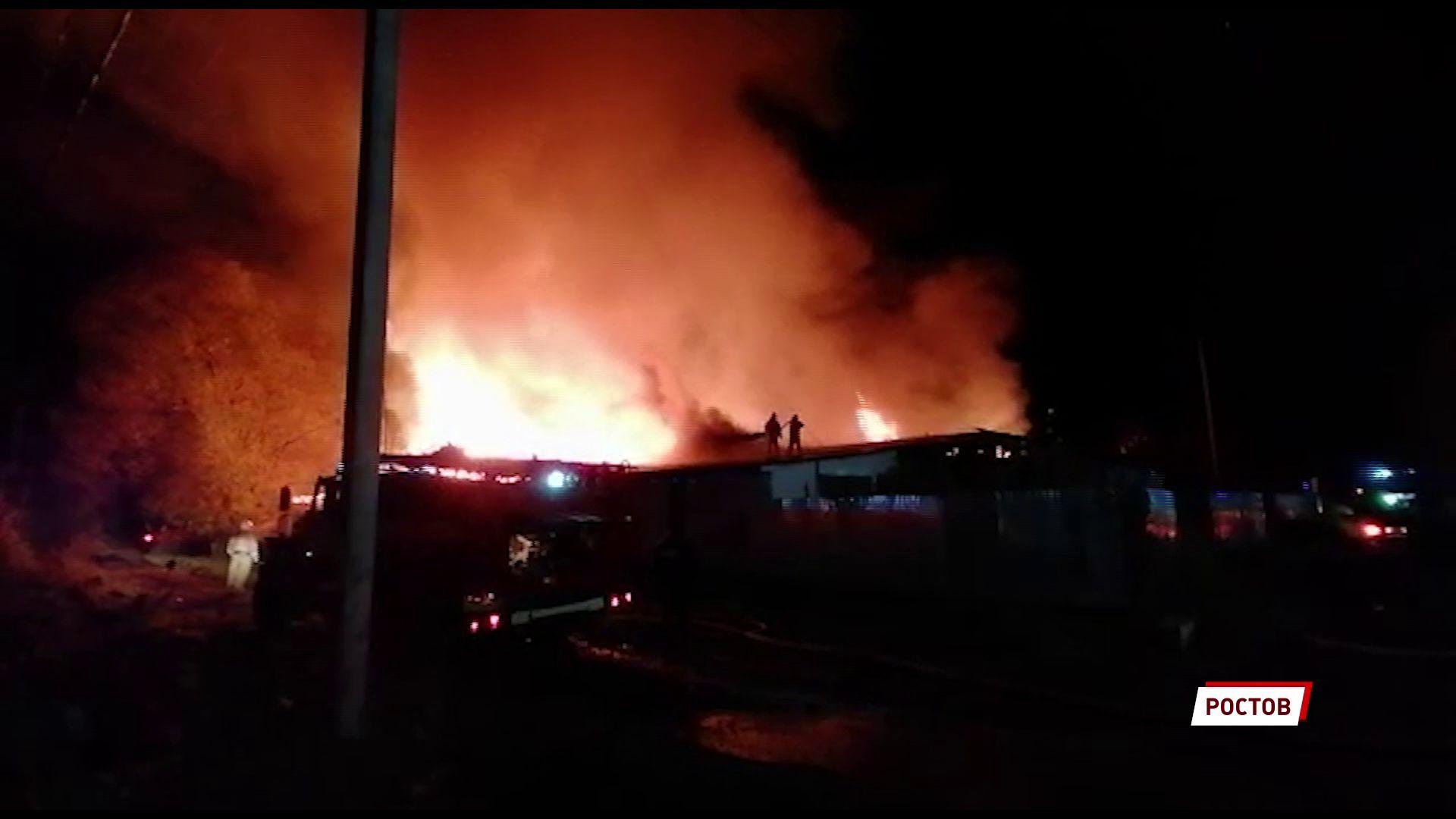 В Ростове Великом произошел крупный пожар