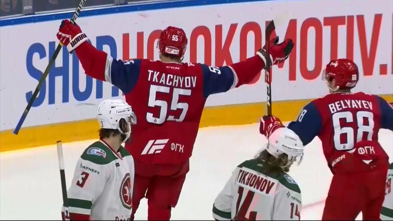«Локомотив» выиграл у «Ак Барса» в домашнем матче в чемпионате КХЛ