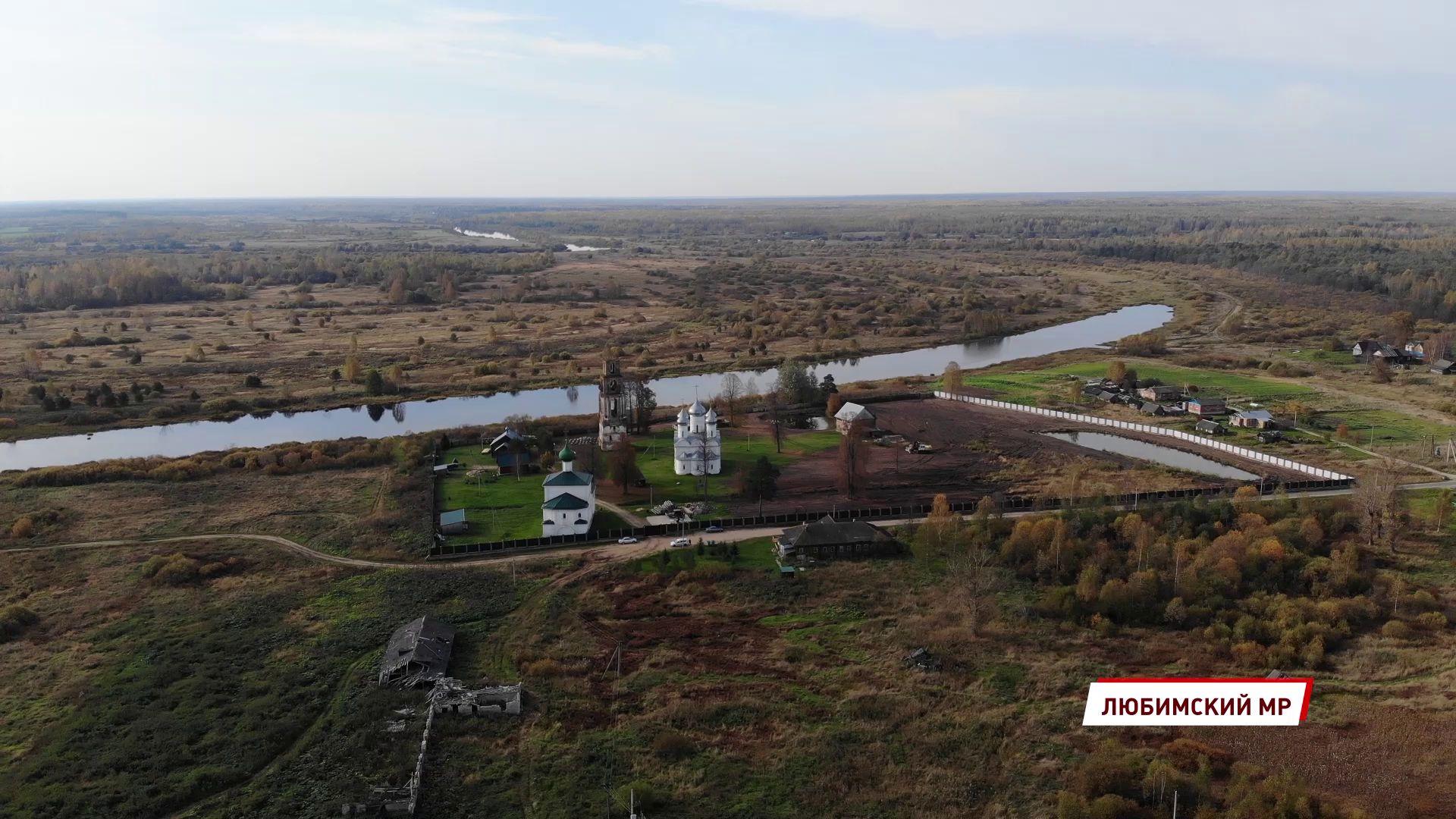 В Любимском районе на территории мужского монастыря высадили липовую аллею