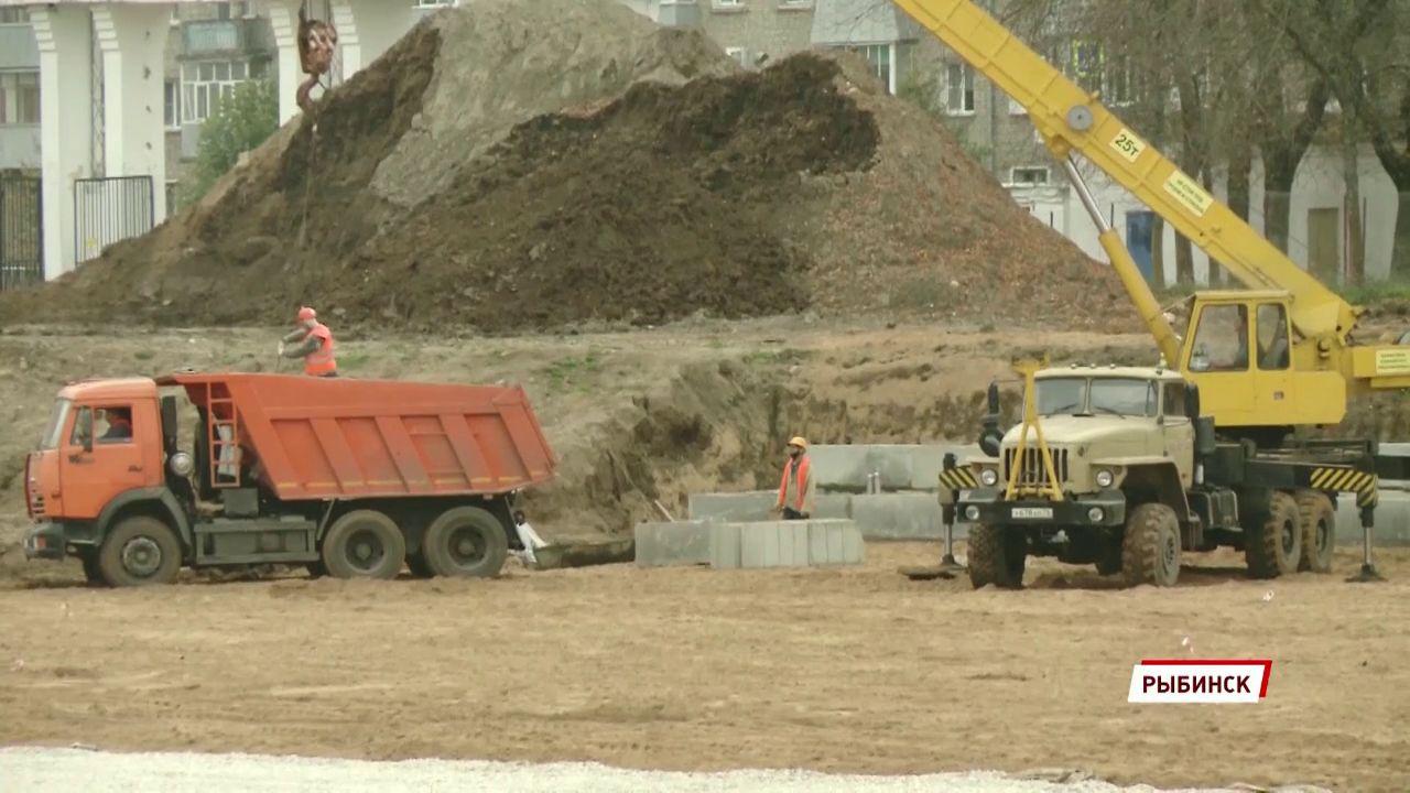 Реконструкция рыбинского стадиона «Сатурн» уже выполнена на 25%